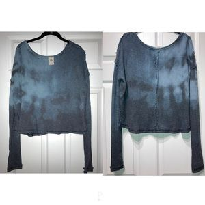 Free People We The Free Comfy Blue Ombré Sweater